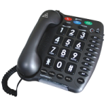 Sonic Alert Amplified Ultra Corded Telephone,Corded Telephone,Each,Amplipower60