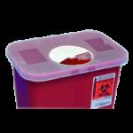 Covidien Kendall Multi Purpose Sharp Container,0.5 Gallon, Neadle Sirenge Collection Container, 4.5″H x 4.75″D x 4.75″W,60/Case,8920SA