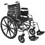 Invacare Tracer EX2 20″ x 16″ Removable Full Length Arm Wheelchair,20″ x 16″,Each,TREX20RFP