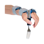 Deluxe Wrist Drop Orthosis With Utensil Holder,X-Large, Left, With 90° Utensil Holder,Each,565881 + 565884
