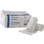 Covidien Kendall Dermacea Three Ply Gauze Roll,6″W x 4yds, 3-ply, Sterile, Soft Pouch,Each,441109