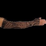 LympheDudes Fierce Mocha Compression Arm Sleeve And Gauntlet,Each,FIERCE MOCHA