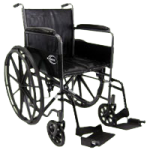 Karman Healthcare Standard Weight Wheelchair With Fixed Full Armrest,Each,KN-800T