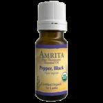 Amrita Aromatherapy Pepper Black Essential Oil,60ml, Bottle,Each,EO4571