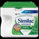 Abbott Similac Advance Organic Formula with Iron,657gm Powder, Unflavored,Each,50821