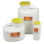 Action Chemotherapy Non Stackable Sharps Containers,23qt, Large, Large Opening,4/Case,932