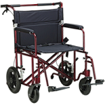 Drive Bariatric Heavy Duty Aluminum Transport Chair,Red,Each,ATC22-R
