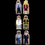 Melissa & Doug Whittle World People at Work Wooden Set,1.25″ x 3″ x .5″,Each,4072