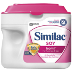 Abbott Similac Soy Isomil Formula with Iron,Unflavored, 1.45lb (657gm) Powdered SimplePac,Each,50819