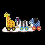 Melissa & Doug Pull Along Zoo Animals Toy,7.13″ x 14.75″ x 2.88″ (Assembled),Each,289