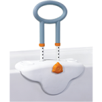 Drive Michael Graves Height Adjustable Clamp On Tub Rail With Soft Cover, Soap And Shampoo Dish,White,Each,MG12050SC