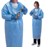 Covidien Kendall ChemoPlus Poly-Coated Impervious Gowns,X-Large, Closed Back, Med Blue,30/Case,CT5504