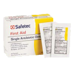 Safetec Single Ointment With Bacitracin,0.9g, Pouch,2000/Case,53300