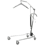 Invacare Hydraulic Manual Patient Lift,Chrome,Each,9805