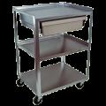 112011413Ideal_Standard_Duty_Three_Shelf_Mobile_Economy_Drawer_Cart