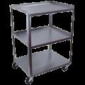 11201191Ideal_Standard_Duty_Three_Shelf_Mobile_Utility_Cart