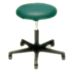 Armedica Pneumatic Stool,Patina,Each,AM-846