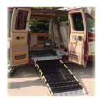 Roll-A-Ramp Powered Auto-Fold Full Size Van Ramp System,7ft x 30″, With Corded Remote,Each,AF1
