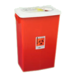 Covidien Kendall SharpSafety Large Volume Sharps Container,18 Gallon, Red, With Slide Lid,Each,8938