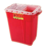 BD Nine Gallon Sharps Collector,Hinge Top,8/Case,305615
