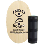 Indo Board Original Balance Trainer With Deck And Roller,Natural,Each,INDOBTN