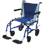 Drive TranSport 19 Inches Aluminum Transport Chair,19″W, Blue,Each,TS19