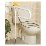 Homecraft Devon Toilet Support Rail With Folding Leg,With Folding Leg,Each,AA2018