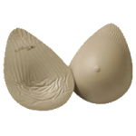 Nearly Me 245 LITES Full Oval Lightweight Silicone Symmetrical Form,Size 3,Each,19-407-03