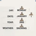 Reality Orientation Chart,21″ x 16.5″,Each,920469