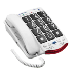 Plantronics Clarity Ameriphone Amplified Phone with Talk Back Numbers,Amplified Big Button Phone,Each,JV35