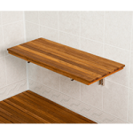 Teakworks4u Wall Mount Fold Down Teak Shower Bench,17″L x 12.5″D, Plantation Teak,Each,PTBF-17W