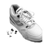 Shoe Buttons,White,Pair,609902