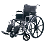 Medline Excel 2000 Wheelchair,Ruby, Removable Desk Length Arms, Swing Away Detachable Elevating Legrests,Each,MDS806300RBY