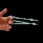 Rolyan Tension-Adjustable Finger Loops And Slings,Loops 3″ (7.6cm),10/Pack,A44410