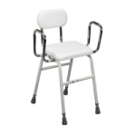 Drive All Purpose Stool With Adjustable Arms,White,Each,12455