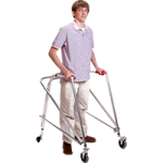 Kaye Posture Control Four Wheel Large Walker With Installed Silent Rear Wheel,Each,W5CRX