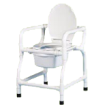 Duralife Bedside Commode with Lid,With One Arm and Lid,Each,124