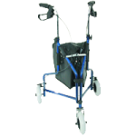 Mabis DMI Three-Wheel Steel Rollator,Royal Blue,Each,501-1014-2100