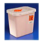 Covidien Kendall Renewable Sharps Disposal Containers,2Gallon, Multi Purpose, With Clear Rotor Lid,20/Case,8979MW