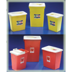 Covidien Kendall PG2 Rated Compliant Sharps Disposal Container,18Gallon, Red, Sliding Lid,Each,8998SPG2