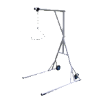 Drive Bariatric Free Standing Trapeze with Base and Wheels,White,Each,13039