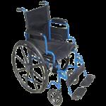 Drive Blue Streak Single Axle Wheelchair,Each,BLS18FBD-SF