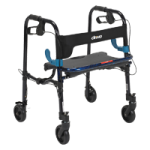 Drive Clever Lite Walker with Seat And Loop Locks,Adult, 8″ Casters,Each,10243