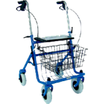 Mabis DMI Traditional Steel Rollator,Blue,Each,501-1013-0100