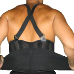 Captain Back Support with Shoulder Straps,Small/Medium, Up to 35″,Each,49087