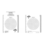 Medline Wound Measuring Guide with Bullseye Ruler,Measuring Guide,250/Case,MSC6252