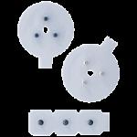 Uni-patch EMG Biofeedback Electrodes,2.25″ (5.7cm) Diameter, Disk Ag/AgCl Snaps,100/Pack,ES82090