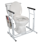 Drive Stand Alone Toilet Safety Rail,White,Each,RTL12079