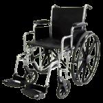 ITA-MED 16 Inch Premium Wheelchair with Chrome Plated Frame,16″ Wheelchair,Each,W16-300