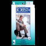 BSN Jobst for Men Closed Toe Knee High 20-30 mmHg Ribbed Compression Socks,Khaki, Large,Pair,115102